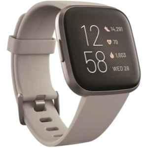 Fitbit Versa 2 Silicone Grey Smart Watch, FB507GYSR