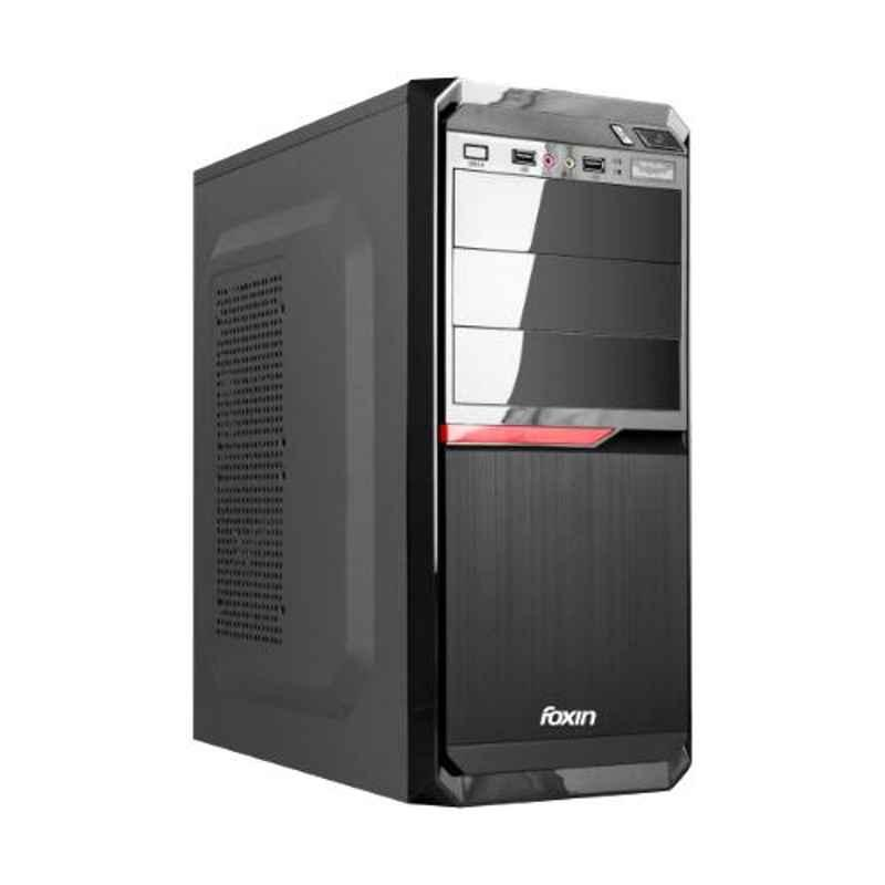 Foxin MARVEL Aesthetic Black Mid Tower PC Cabinet with SMPS