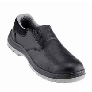 NEOSafe A7021 Xplor Low Ankle Fibre Toe Leather Black Safety Shoes, Size: 10