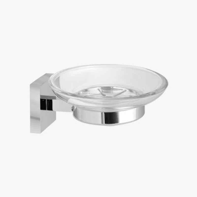 Kerovit Silver Chrome Finish Square Range Soap Dish, KA990004