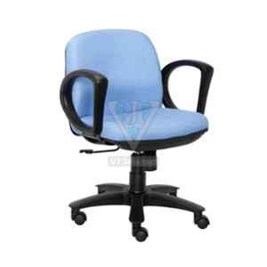 VJ Interior 21x19x17 inch Blue Padded Low Back Workstation Fabric Chair, VJ-1048