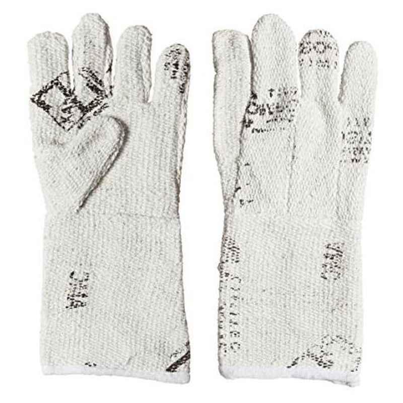 Siddhivinayak 14 inch Cotton Heavy Asbestos Hand Gloves (Pack of 5)