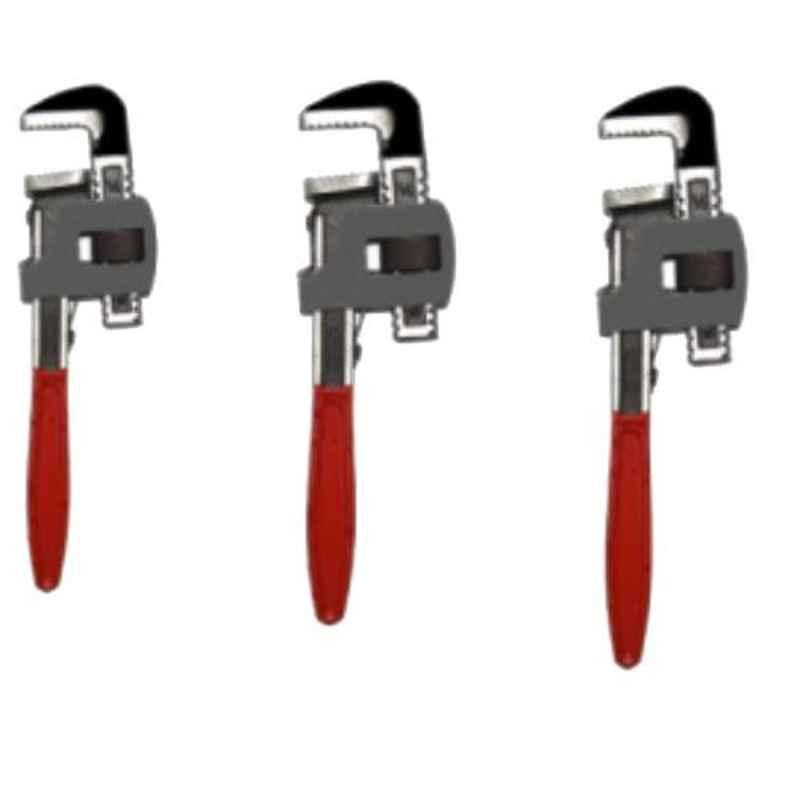GSK Cut 3 Pcs Carbon Steel Single Sided Pipe Wrench Set