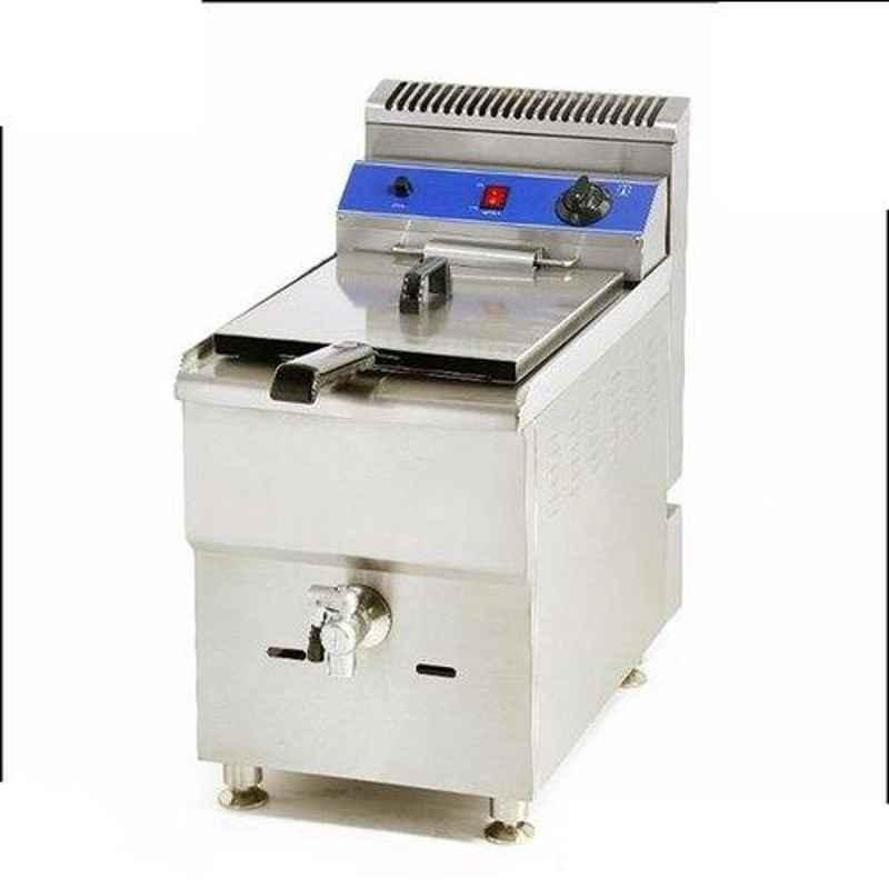 Taikong Gas Deep Fryer - 12 Liters, Model Name/Number: FO-12, Size: 340x615x630 Mm