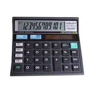Citizen CT-512 12 Digit Black Electronic Calculator (Pack of 2)