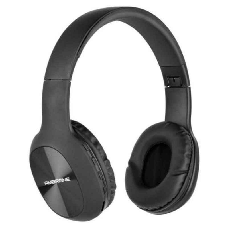 Ambrane WH-65 Black Over Ear Wireless Headphone with Mic