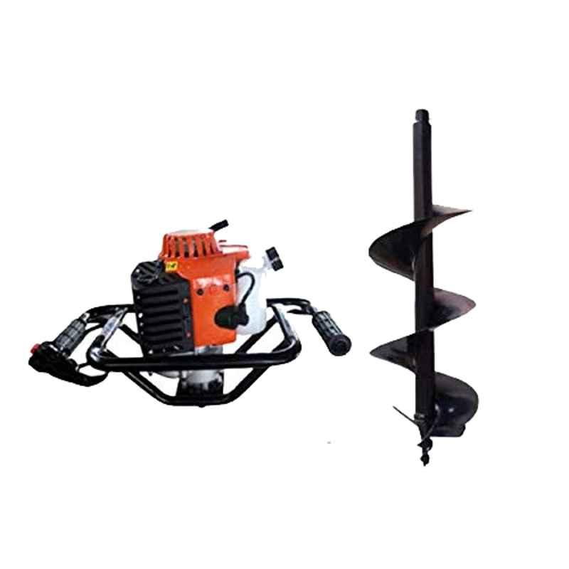 Kanak 2.5kW 82CC Heavy Duty Drill Hole Earth Auger with 6 inch Drill