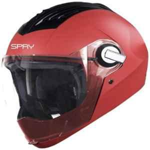 Steelbird SBA-2 SPRY Classic Red Full Face Helmet, Size (Large, 600 mm)
