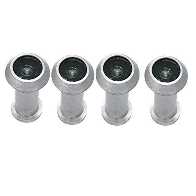 Smart Shophar 2 inch Stainless Steel Silver Vision Heavy Weight Eye View, SHA40EV-VISI-HVSL-P4 (Pack of 4)
