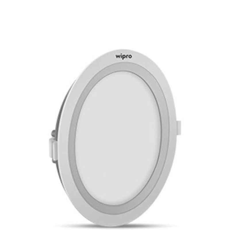 Wipro Garnet 15W Cool Day White Round Wave Slim LED Panel Light, D711560