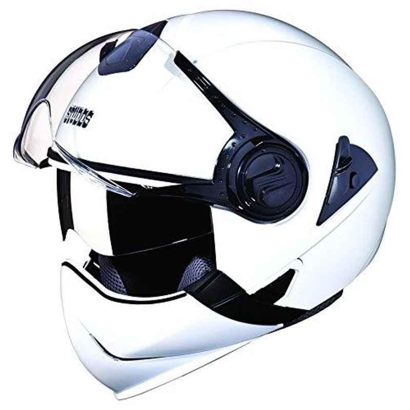 Studds Downtown White Full Face Helmet, Size: L