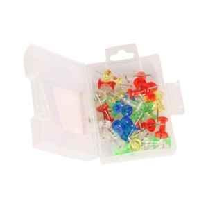 Saya SYPP52 Transparent Color Push Pin, Weight: 787 g (Pack of 50)