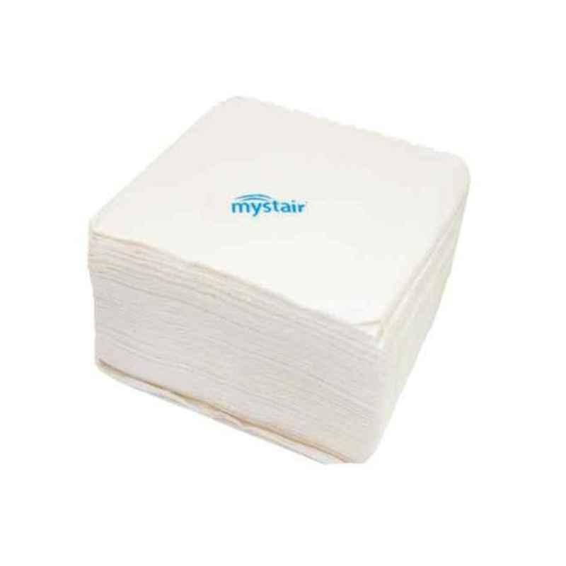 Mystair 30x30cm 15 GSM Single Ply Paper Napkin, 8104 (Pack of 60)