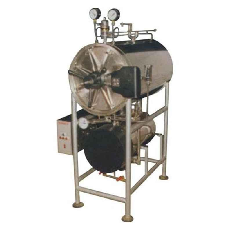 U-Tech 400mm 9kV Stainless Steel Triple Wall Cylindrical Horizontal Autoclave, SSI-103