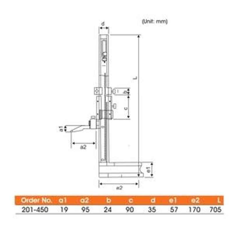 Yamayo 450mm Vernier Height Gauge