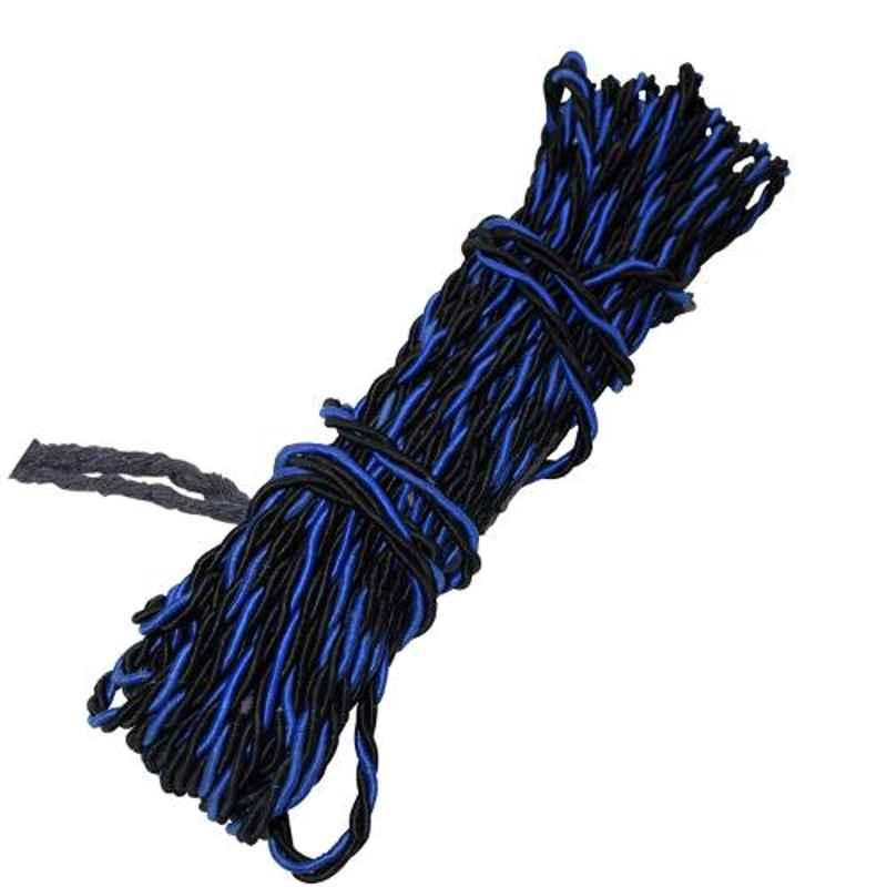 AllExtreme EX28LBB 28m Blue & Black High Strength Leg Guard Synthetic Towing Securing Rope