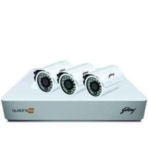 Godrej SeeThru 1080p Full HD White CCTV Camera Kit with Hardisk, GODREJ2MP3BULLET1TBHD