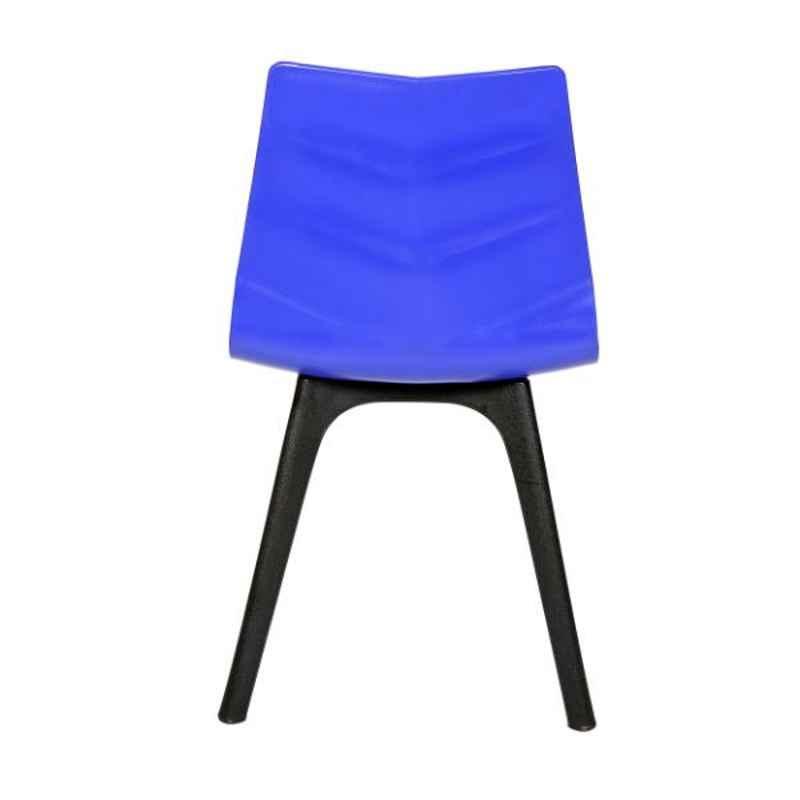 Regent Diamond Shell Plastic Blue Chair