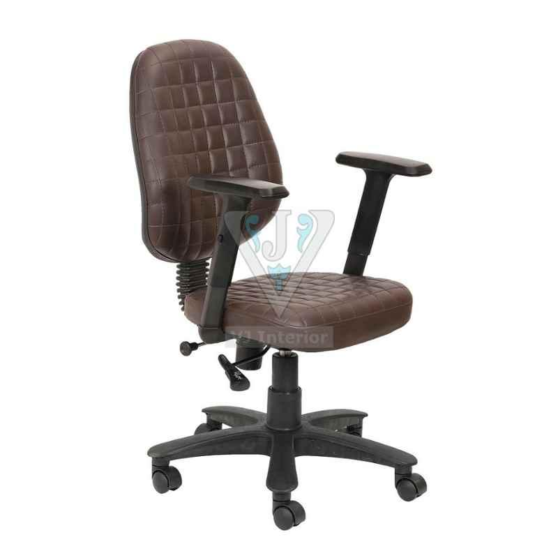 VJ Interior 18 inch Leather Computer Chair With Adjustable Armrest, VJ-1129
