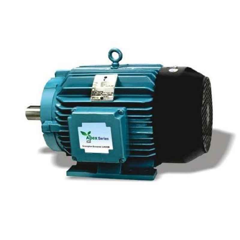 Crompton Apex 1 HP 3 Phase 4 Pole IE2 Foot Mounted AC Motor, 0.75KNE4