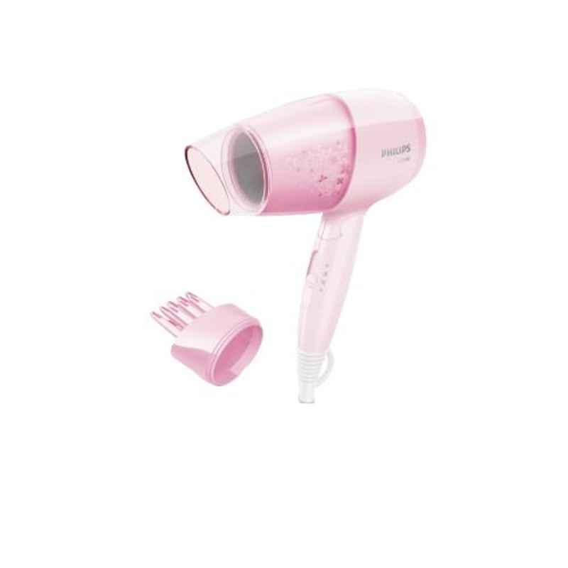 Philips EssentialCare 1200W Cheery Blossom Pink Hair Dryer with Diffuser, BHC017