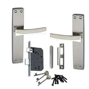 Atom Fortune2 Stain Finish Double Stage Mortise Lock Set with 3 Keys