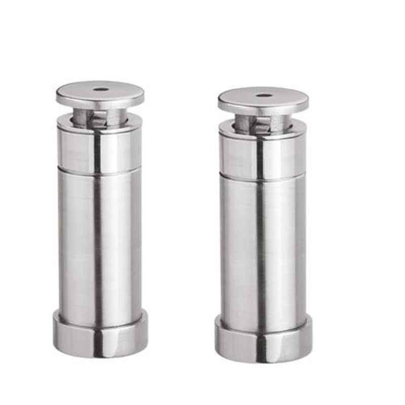 Nixnine Stainless Steel Heavy Duty Magnetic Door Stopper, SS_202_3IN_2PS (Pack of 2)