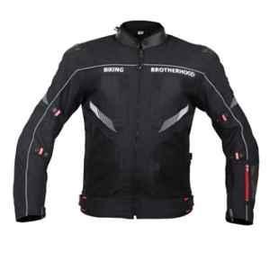 Biking Brotherhood Leather Collar with Soft Neoprene Inner Ladakh Jacket, Size: 2XL