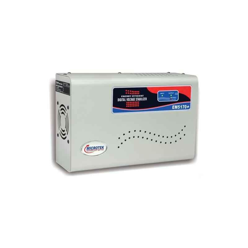 Microtek EM 5170+ 170-270V Digital AC Voltage Stabilizer for Upto 2 Ton AC with 3 Years Warranty