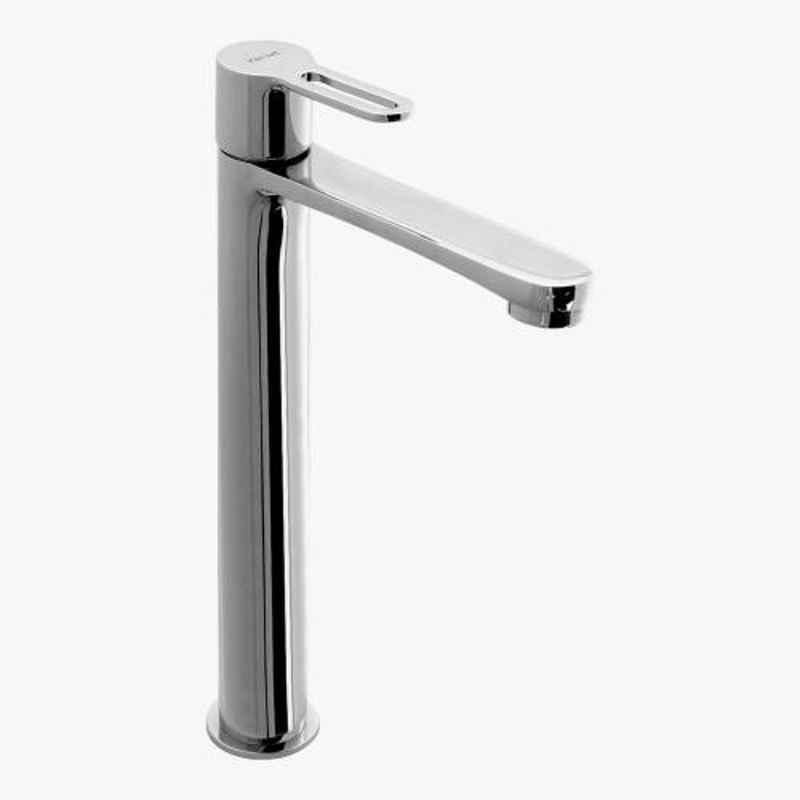 Kerovit Curve 282mm Silver Chrome Finish Tall Pillar Tap, KB1711002