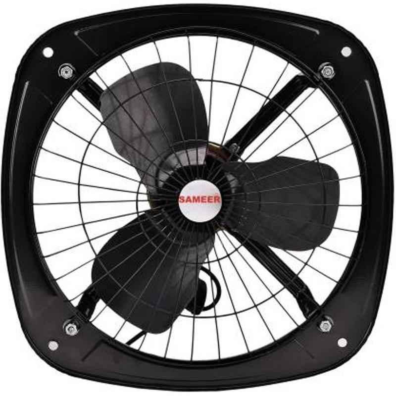 Sameer 230mm High Speed 3 Blade Black Exhaust Fan, Speed: 1350 rpm