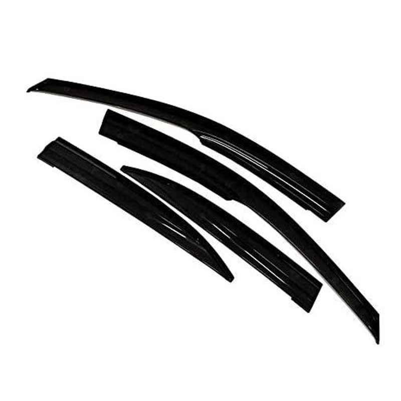 Auto Pearl 4 Pcs Black Car Rain & Wind Door Visor Side Window Deflector for Sunny New