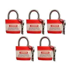 India Loto ILP219 Red Regular Shackle Padlock (Pack of 5)