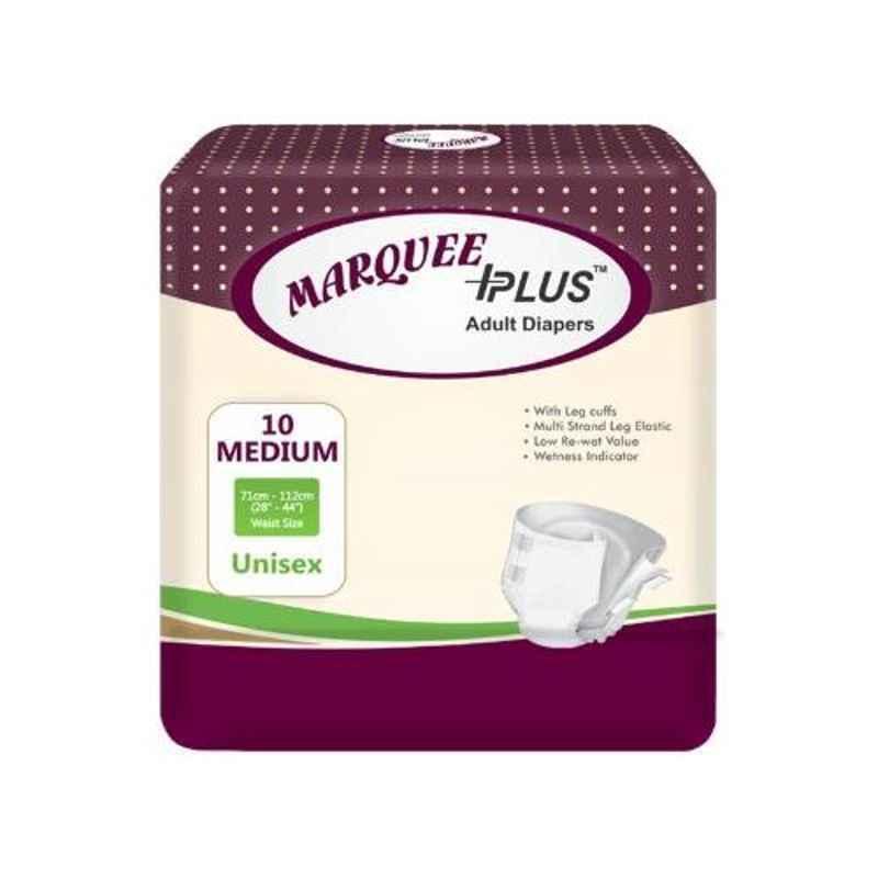 Marquee Plus 28-44 inch Medium Adult Diaper, IDLM80 (Pack of 80)
