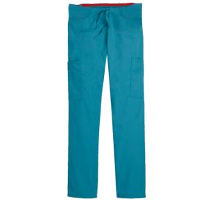 Protect U Medium Turquoise Mid Rise Scrub Cargo Pant for Women, 100-862