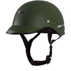 Habsolite HB-MWG2 Mini Wrinkle Green Safety Helmet With Quick Release Strap, Size: Free Size