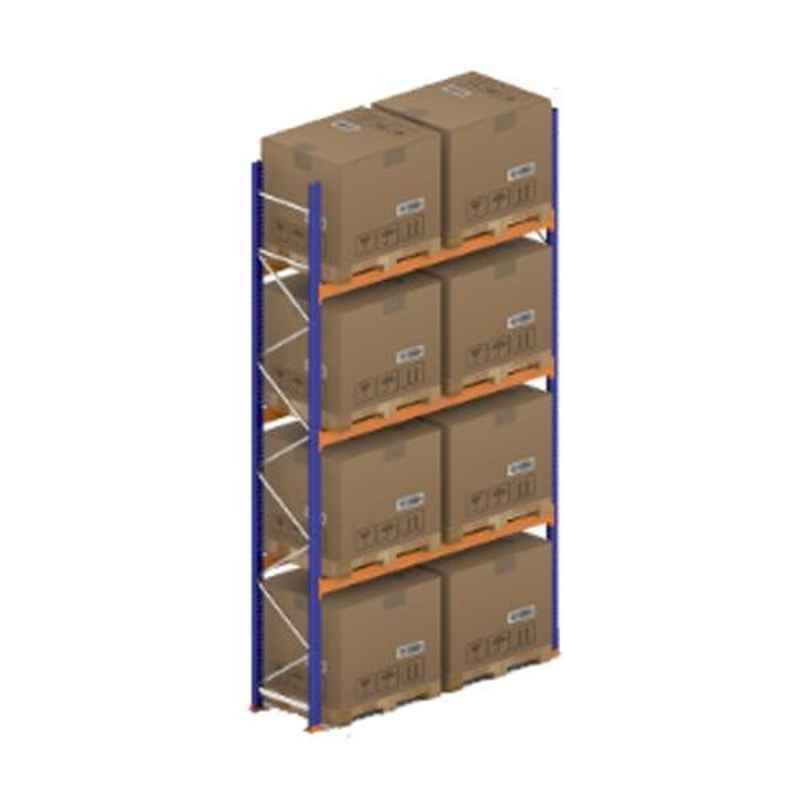 Godrej Ground Plus 3 Layers Steel Selective Pallet Racking, Max Load Capacity: 6000kg, Main Unit: 5000x2700x800mm (HxWxD)