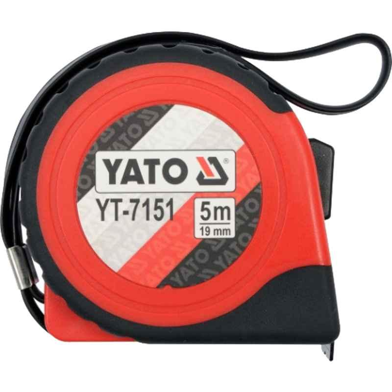 Yato 25mm 10m White Steel One Sided Printed Measuring Tape, YT-7154