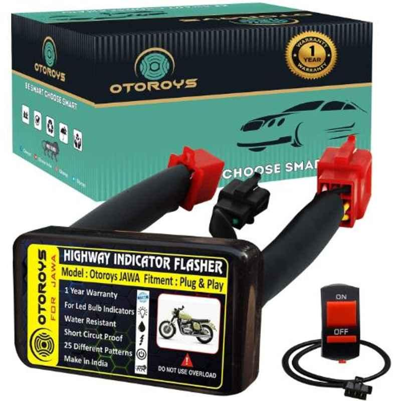 Otoroys 25 Mode Patterns Universal Bike Hazard Flasher Relay for LED Bulb Indicators, OTO-JAWA021