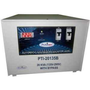 Pulstron PTI-20135B 20kVA 135-290V Single Phase Grey Bypass Automatic Mainline Voltage Stabilizer