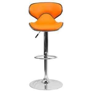 Steelcraft KBSTO06 Orange Leatherette Upholstery Seat Bar Stool