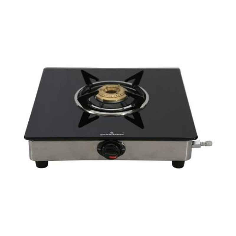 Good Flame Single Burner Manual Ignition Glass Gas Stove, GF0071