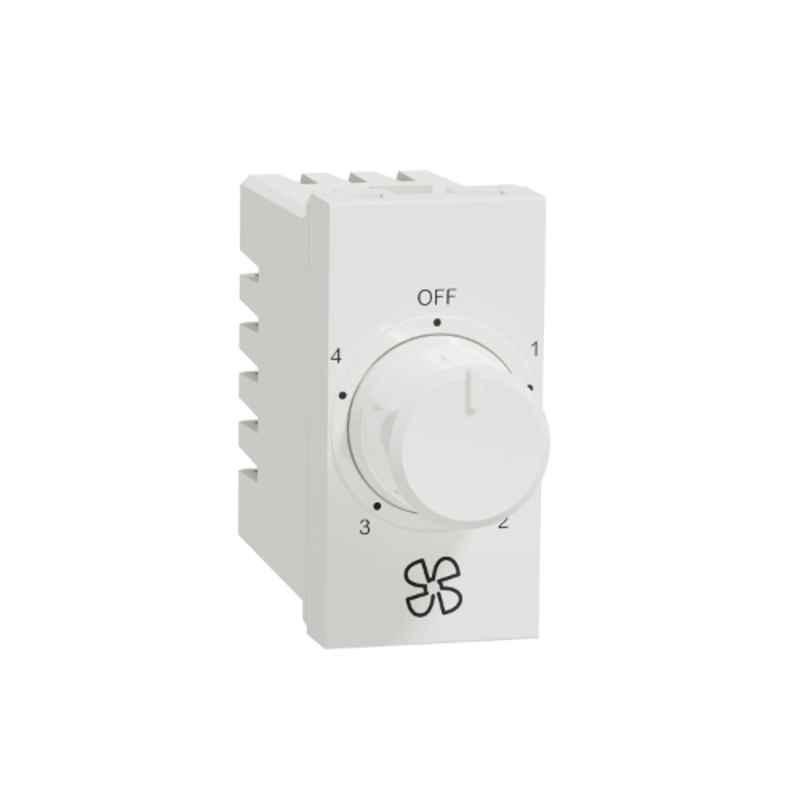 Schneider Unica Pure Polar White Fan Regulator, UNS4STFAN1M_WE (Pack of 10)