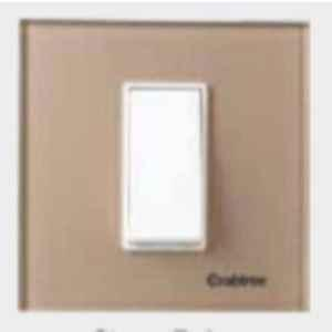 Crabtree Murano 4 Module Stone Beige Glassique Modular Combined Plate, ACMPGCLV04 (Pack of 60)