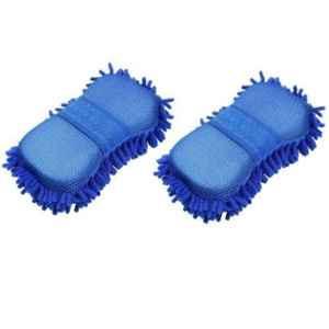 K Kudos Medium Microfiber 2-in-1 Car Cleaning Brush (Pack of 2)