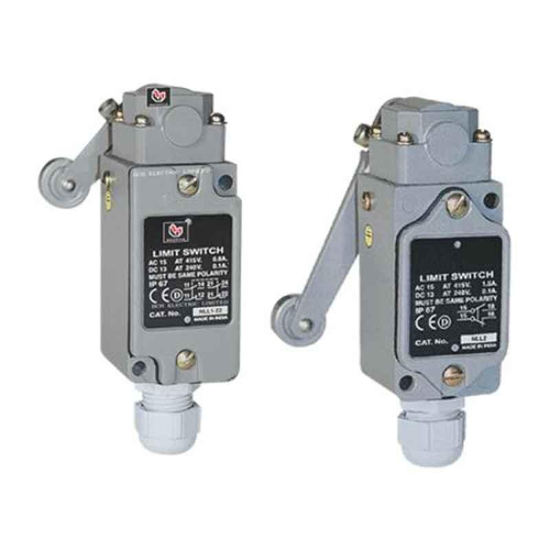 BCH NL IP-67 Roller Lever Snap Action Heavy Duty Limit Switch, NLTPBA