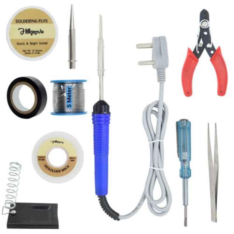 Hillgrove 10 in 1 Mobile Soldering Electronic Iron Kit, HG0059