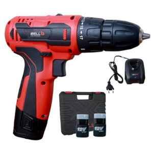 iBELL 12V DC 1500mAh Red Cordless Driver Drill, IBL CD12-74 with 1 Pc Charger, 2 Pcs Battery & 32 Pcs Accessories