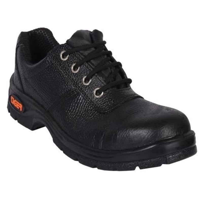 Tiger Lorex Steel Toe PU Sole Black Safety Shoes, Size: 5