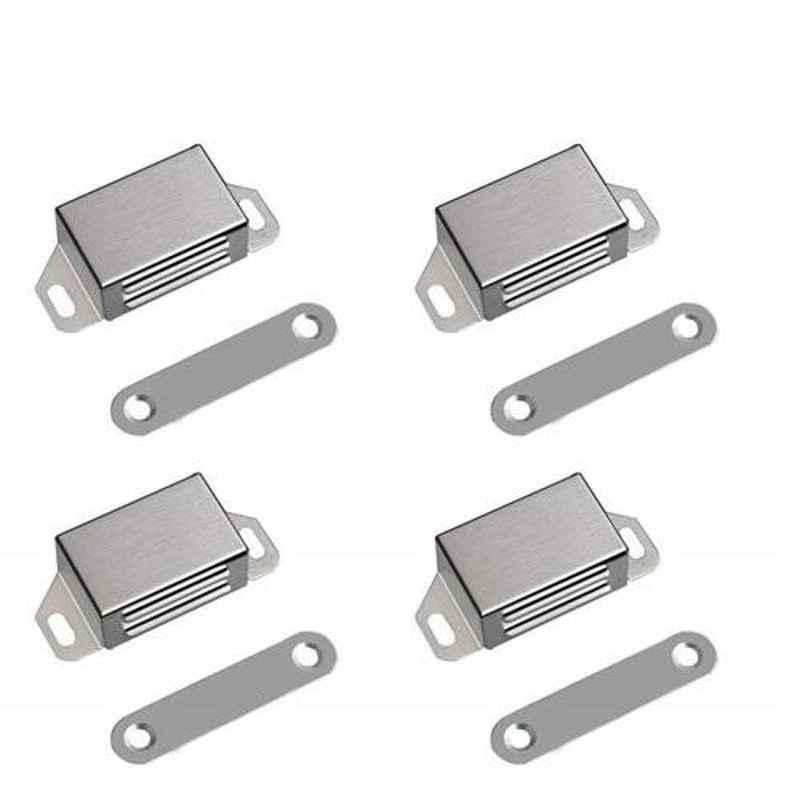Nixnine Stainless Steel Magnetic Door Stopper, SS_REG_616_4PS (Pack of 4)